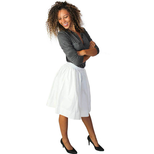 Ivory Skirt With Pockets
