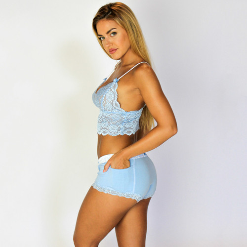 Our Lace camisoles pair with FOXERS boxer briefs, boyshorts and lace boxers!