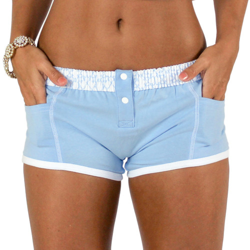 Lt Blue Tomboy Boxer Brief with Pockets