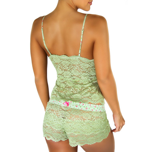 Waist Length Lace Camisole | Sage Green/Roses Forever