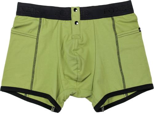 Men's Sage Green Boxer Briefs by FOXERS