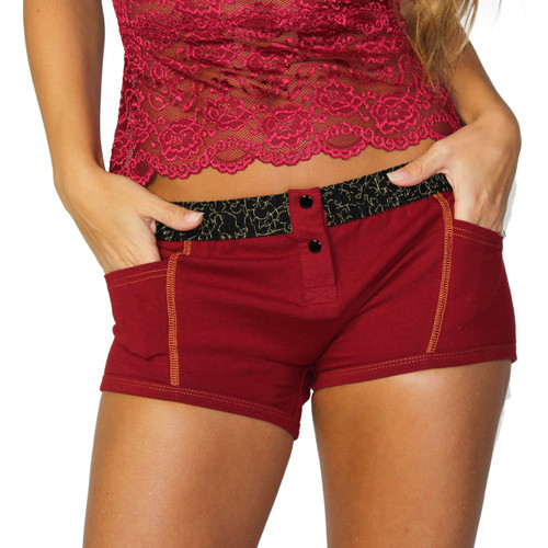 Cranberry Tomboy Boxer Brief with Masquerade Band