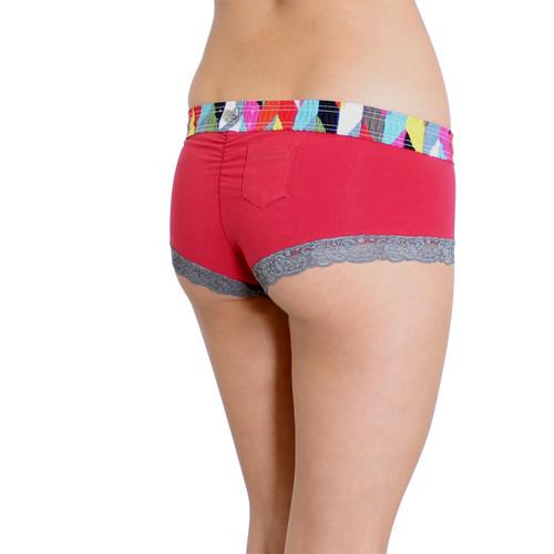 Women's Red Boy Short Panties