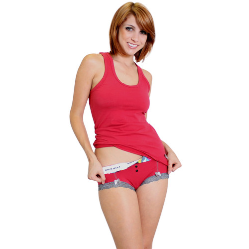 Papaya Red Women's Underwear and Matching Tank Top