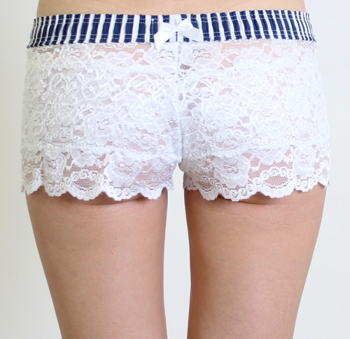 Beautiful White Lace Boxer Briefs