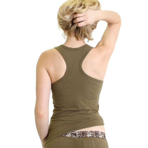 Olive Tank Top Racer back