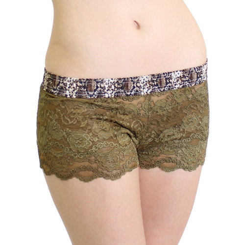 Green Lace Women's Boxer Briefs