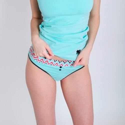 Aqua Thong with Aqua Chevron Band