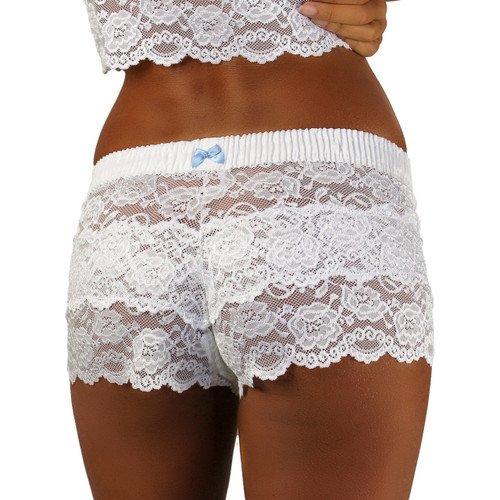 White Lace Boxers with White FOXERS Band