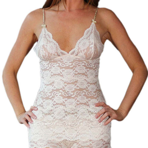 Blush Lace Hip Length Camisole (Blushing Rose Straps)