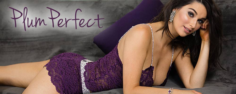 Plum Perfect - A Romantic Collection of Deep Purple Lingerie by Foxers