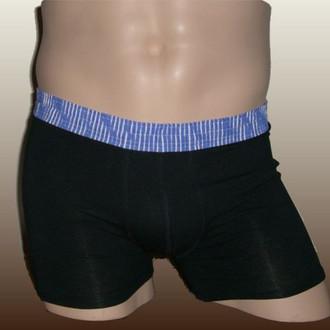 Blue Stripe over Black Short Boxer Brief