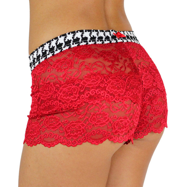 Houndstooth Red Lace Boxers