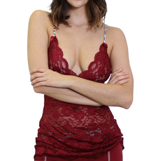 Cranberry Lace Camisole | Hip Length | FOXERS