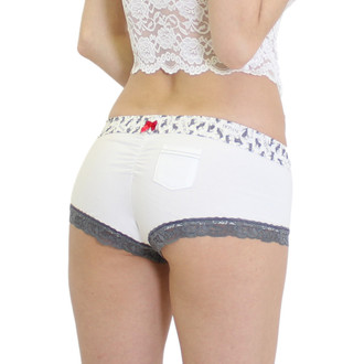 Cute White Boy Shorts Panties
