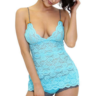Light Turquoise Lace Negligee