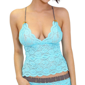Light Turquoise Lace Camisole