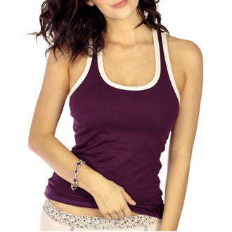 Plum Women's Racerback Tank Top with Shelf Bra