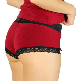 Black Cherry Boyshorts with Flat Foxers Band (FXBOY-1901L)