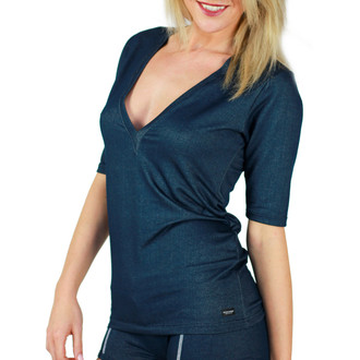 Denim Deep V Womens Top