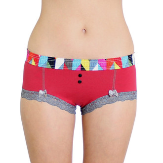 Papaya Boyshort with FOXERS Kaleidoscope Waistband