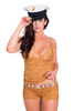 Cruise Collection Gold Lace Boxer Briefs and Matching Lace Top