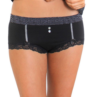 Sex Black Boyshorts with Black Dot Waistband