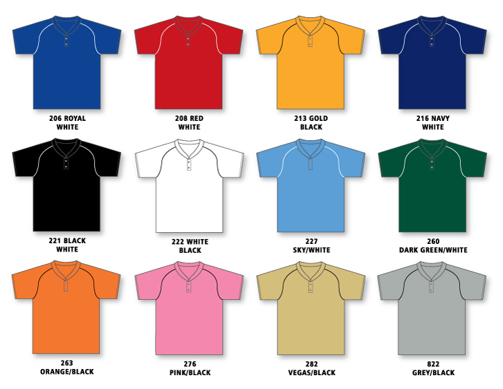 OECM Athletic Knit TWO BUTTON Baseball Jersey - Blue | SchoolWear.ca
