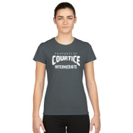 Courtice Intermediate Gildan Women's Performance T-shirt - Charcoal