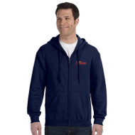 SSC Gildan Unisex Heavy Blend 50/50 Full Zip Hoodie - Navy (SSC-083-NY)