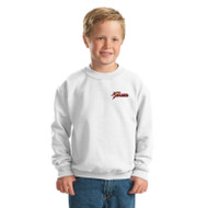 SSC Gildan Crewneck Youth Sweatshirt - White (SSC-095-WH)