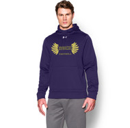SRC Under Armour Men's Armour Fleece Team Football Hoodie - Purple