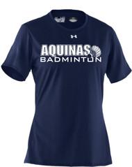 STA Badminton Under Amour Women's Short Sleeve Locker T - Navy