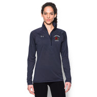 SBA Under Armour Womens Stripe Tech ¼ Zip - Navy (SBA-125-NY)