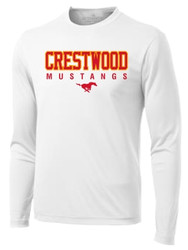 Crestwood Cross Country ATC Men's Pro Team Long Sleeves Tee - White
