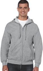 Peel DSB Gildan 18600 Ultra Blend Adult Full Zip Hooded Sweatshirt (S-3XL) - Grey