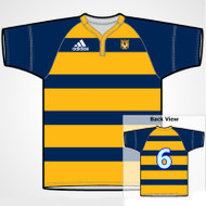 Adidas Sublimated Pro Fit LP Ladies Rugby Jersey - Navy Gold