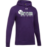 ANM Under Armour Men's Hustle Fleece Hoodie- Purple