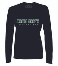 ASC ATC Women's Pro Team V-Neck LS Tee - Track & Field - Black