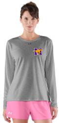 MCS UA Ladies Long Sleeve Locker Tee - Grey