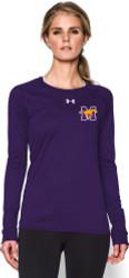 MCS UA Ladies Long Sleeve Locker Tee - Purple