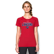 ROD Under Armour Women's Short Sleeve Locker Tee - Red
