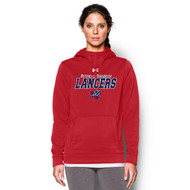 ROD UA Women's Storm Armour Fleece Team Hoodie - Red