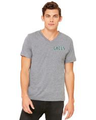 GCV Bella + Canvas Jersey Short-Sleeve V-Neck T-Shirt - Mens - Deep Heather