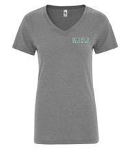 GCV KOI® Triblend V-Neck Ladies' Tee - Grey