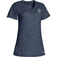 MCM Under Armour Women's Stadium Charged Cotton Tee - Navy