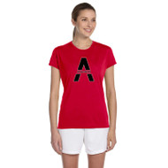 SAQ Gildan Ladies Performance T-Shirt - Red
