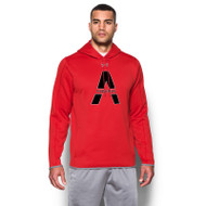 SAQ Under Armour Men's Double Threat Fleece Hoody - Red