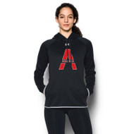 SAQ Under Armour Women's Double Threat Fleece Hoody - Black