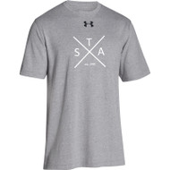 SAQ Under Armour Men's Stadium Tee - Grey